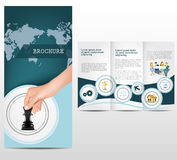Business brochure. Template design layout Royalty Free Stock Photography