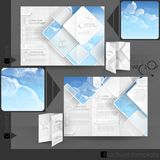 Business Brochure Template Design Stock Image