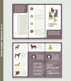 Business brochure template with dogs with place for your photo,. Vector design. Eps 10. Can be used for pet shop Royalty Free Stock Photo