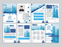 Business brochure, template, flyer design set. Royalty Free Stock Photo