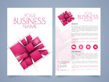 Business brochure, template or flyer. Stylish two page business brochure, template or flyer presentation with abstract design and place holders for your content Stock Photography