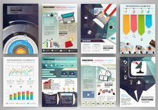 Business brochure template with infographic elements Royalty Free Stock Photography