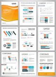 Business brochure template with infographic elements Royalty Free Stock Images