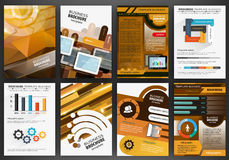 Business brochure template with infographics Royalty Free Stock Image