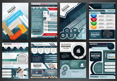 Business brochure template and infographics Royalty Free Stock Photography