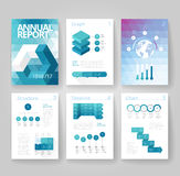 Business brochure template with infographics Stock Image