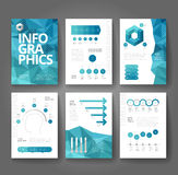 Business brochure template with infographics Stock Photography