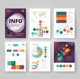 Business brochure template with infographics Royalty Free Stock Photos