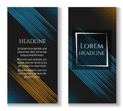Business brochure template with motion lines Royalty Free Stock Photography