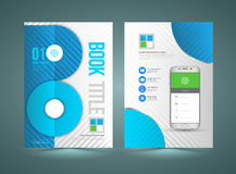 Business Brochure Template With Smartphone. Stock Image