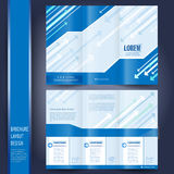 Business brochure template Royalty Free Stock Photos