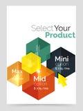 A4 business brochure template. Vector background for business brochure or flyer, presentation and web design navigation layout stock illustration