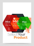 A4 business brochure template. Vector background for business brochure or flyer, presentation and web design navigation layout royalty free illustration