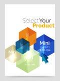 A4 business brochure template. Vector background for business brochure or flyer, presentation and web design navigation layout vector illustration