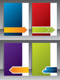 Business brochure templates Royalty Free Stock Images