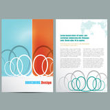 Business Brochure. Vector brochure template design layout Royalty Free Stock Image