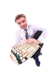 Business and broken keyboard Stock Photo