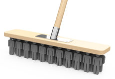 The business broom. 3d generated picture of a broom with workmen bristles Stock Image