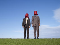 Business bucket men Stock Image