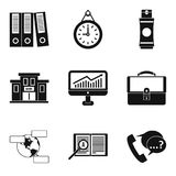 Business budget icons set, simple style. Business budget icons set. Simple set of 9 business budget vector icons for web isolated on white background Royalty Free Stock Image