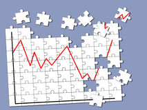 Business budget jigsaw puzzle Stock Photo