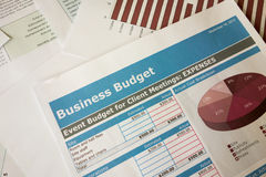 Business budget planning. Graph reports Stock Images