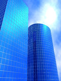 Business building. The two 3d business building Stock Photography