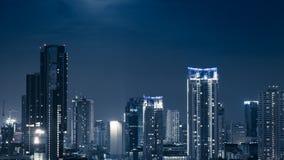 Business Building Bangkok city area at night life high angle bir Stock Photography