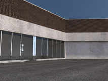 Business building 3D rendering Royalty Free Stock Photos