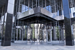 Business building entrance. Modern business building main entrance royalty free stock photos