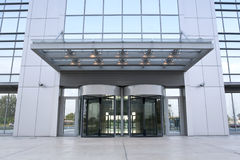 Business building entrance. Modern business building main entrance royalty free stock photo