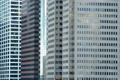 Business building facades. Downtown Manhattan Buildings royalty free stock photo