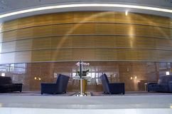 Business building and hotel lobby stock photos