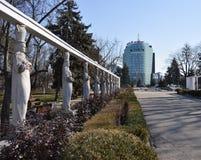 Business building landscape Stock Photo