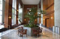 Business building lobby interior interiors design designs Stock Images