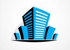 Free Business Building, Modern Architecture Vector Illustration. Real Estate Realty Office Center Design. 3D Futuristic Facade In Big Royalty Free Stock Photography - 189915627