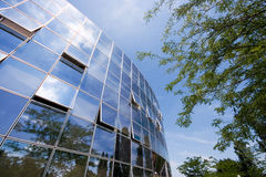Business building reflections Royalty Free Stock Photos
