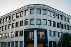 Business building rests after working day royalty free stock images