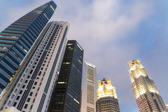 Business Building In Singapore Stock Images