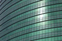 Business Building. Transparent glass windows of office building with reflections Stock Photography