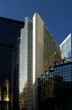 Business Buildings. A set of corporate buildings and skyscrapers clustered against one another Stock Image