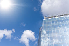 Business buildings. On a background blue sky Royalty Free Stock Photography