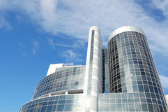 Business buildings. On a background blue sky Royalty Free Stock Photo