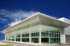 Business   buildings. Modern  business   buildings   in  deep blue  sky Stock Images
