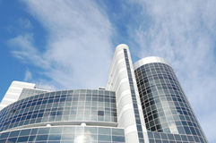 Business buildings. On a background blue sky Stock Photos