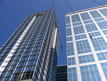 Business buildings. In blue sky Stock Photos