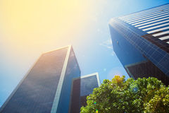 Business buildings and blue sky Royalty Free Stock Photos