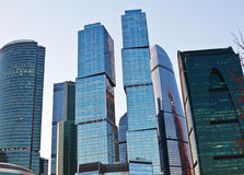 Business buildings and blue sky background Royalty Free Stock Photos