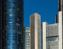Business buildings  in the financial district of Frankfurt, Germ Royalty Free Stock Images