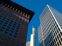 Business buildings  in the financial district of Frankfurt, Germ Stock Image
